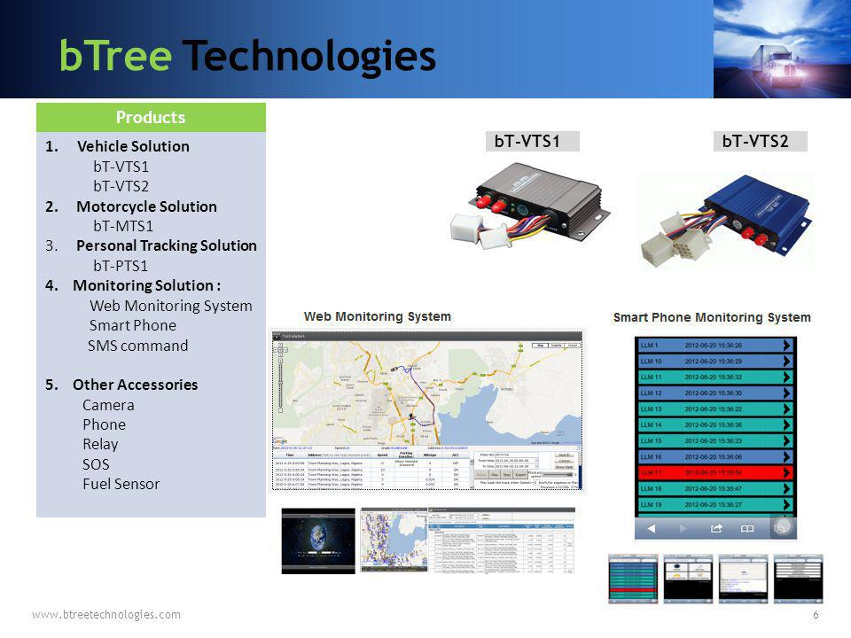 bTree Technologies Products Vehicle Solution bT-VTS1 bT-VTS2