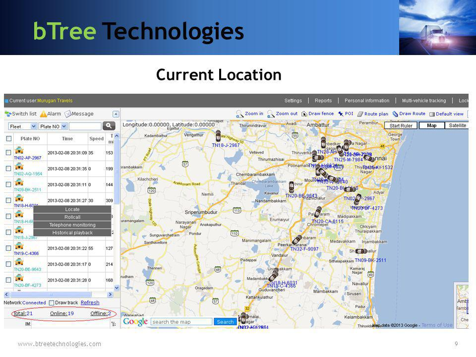 bTree Technologies Current Location www.btreetechnologies.com