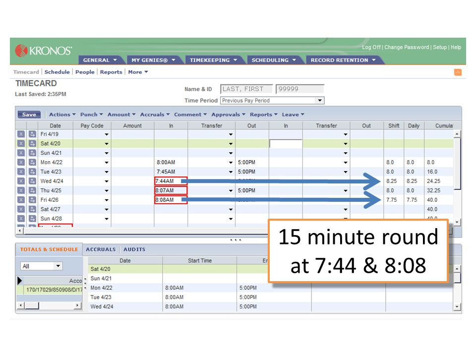 15 minute round at 7:44 & 8:08