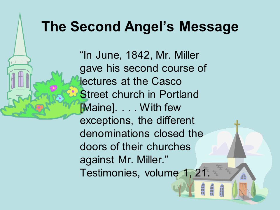 The Second Angel's Message