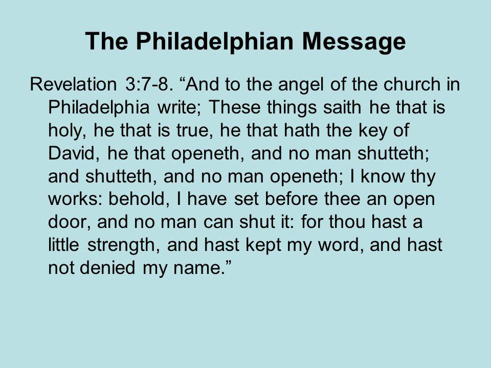 The Philadelphian Message