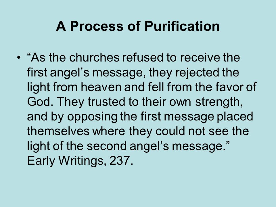 A Process of Purification