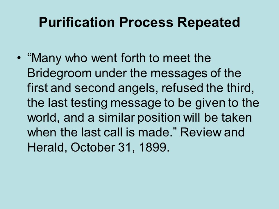 Purification Process Repeated