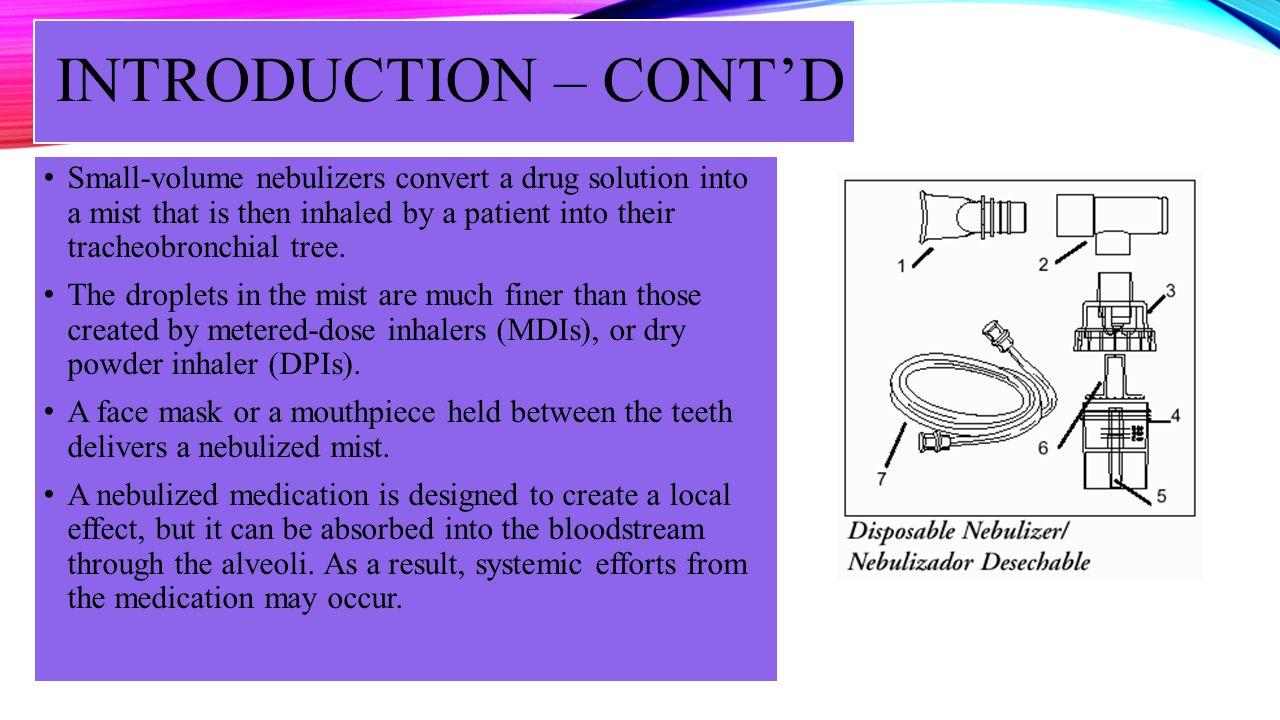INTRODUCTION – CONT'D