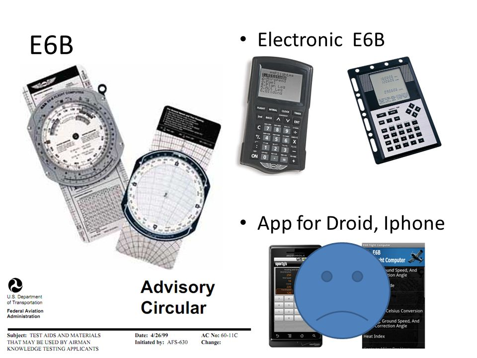 E6B Electronic E6B App for Droid, Iphone