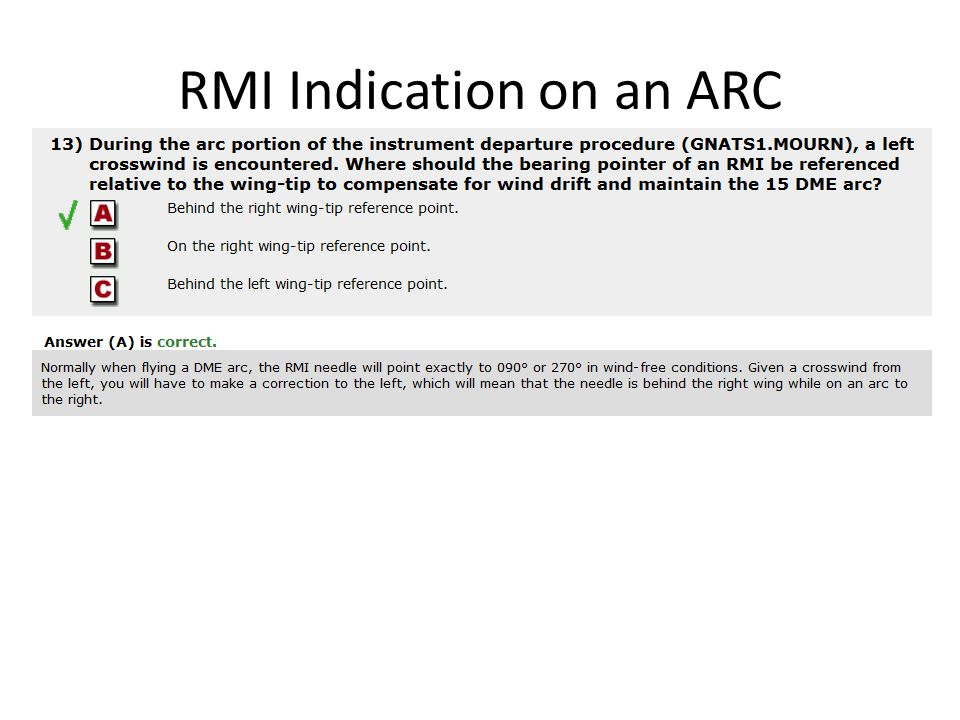 RMI Indication on an ARC