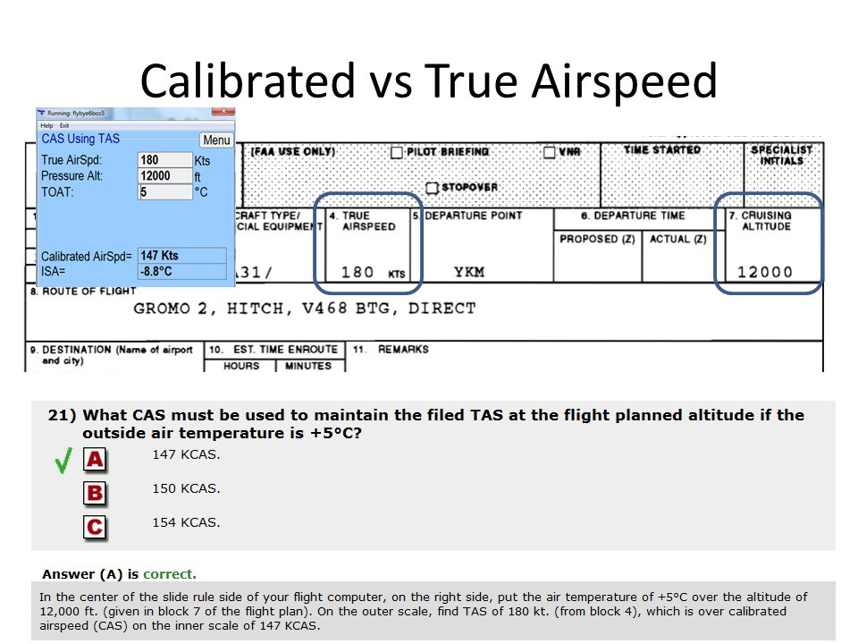 how to find true airspeed for flight planning