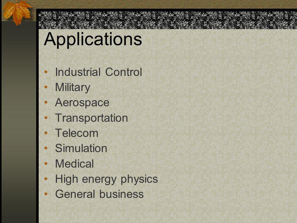 Applications Industrial Control Military Aerospace Transportation
