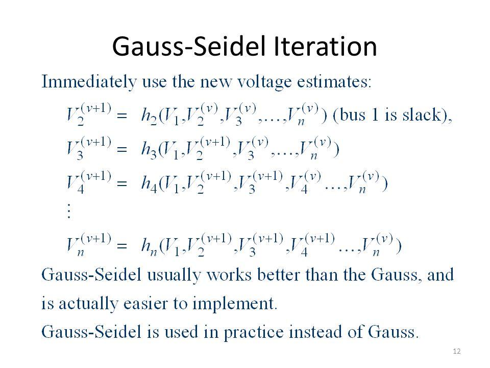 Gauss-Seidel Iteration