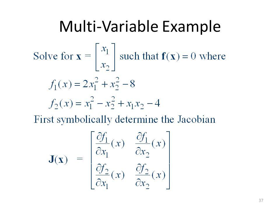 Multi-Variable Example