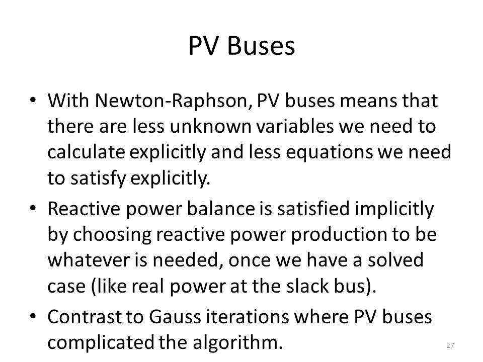PV Buses