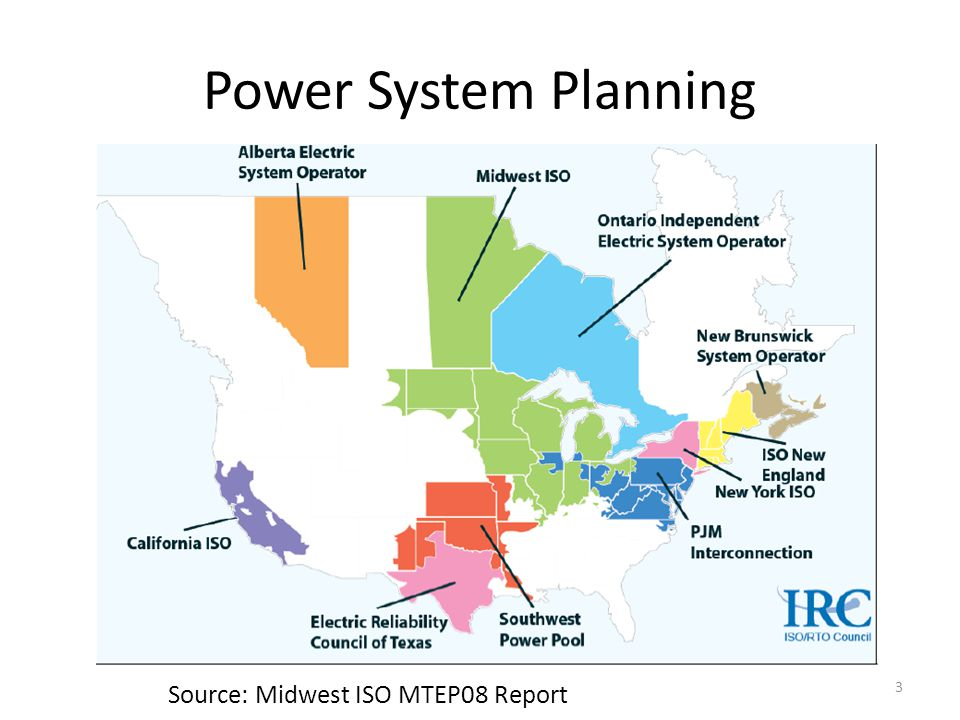 Power System Planning Source: Midwest ISO MTEP08 Report