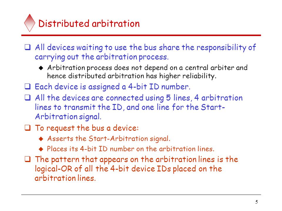 Distributed arbitration (contd..)