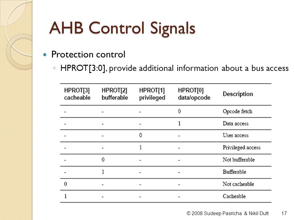 AHB Control Signals Protection control