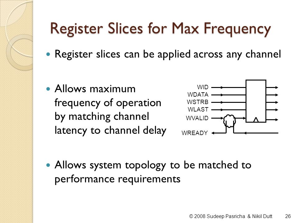 Register Slices for Max Frequency