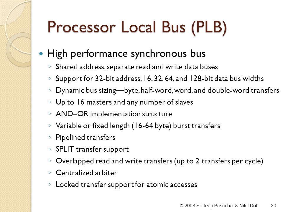 Processor Local Bus (PLB)