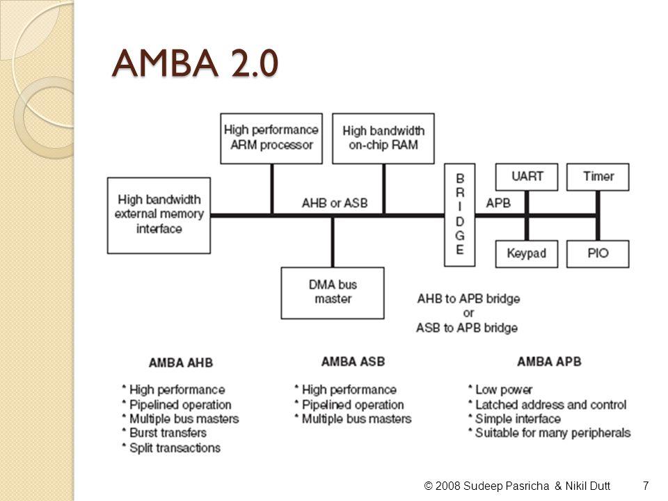 AMBA 2.0 © 2008 Sudeep Pasricha & Nikil Dutt