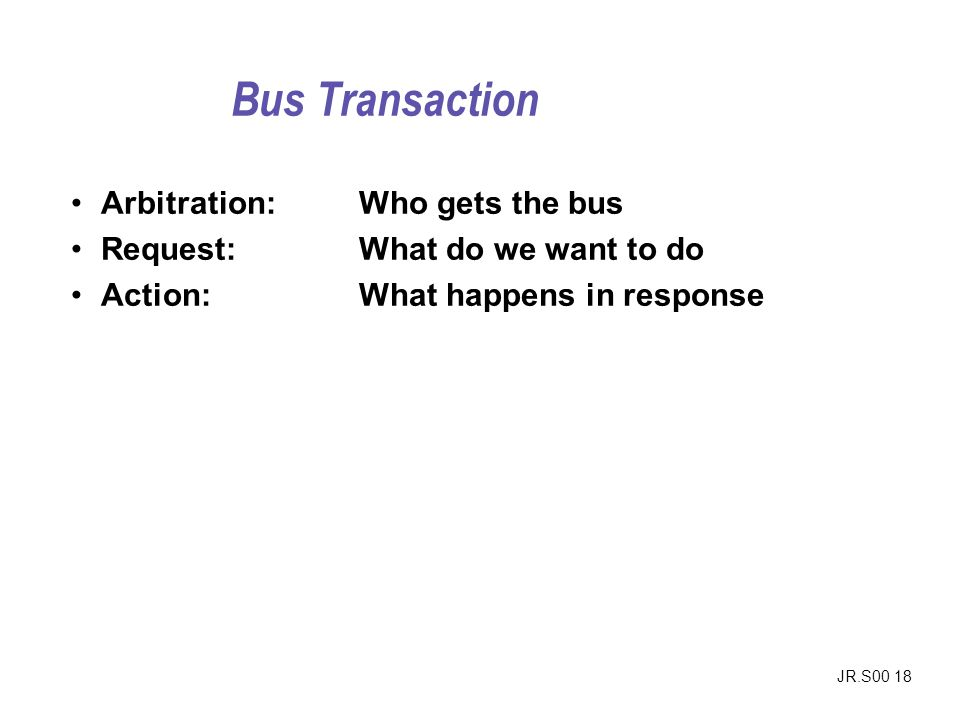 Bus Transaction Arbitration: Who gets the bus