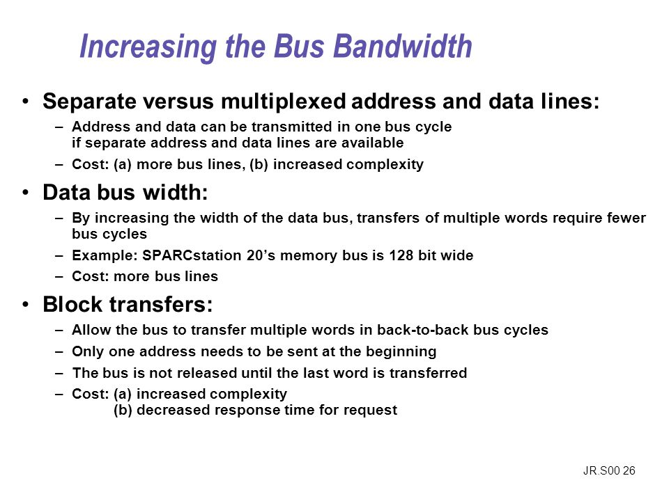 Increasing the Bus Bandwidth