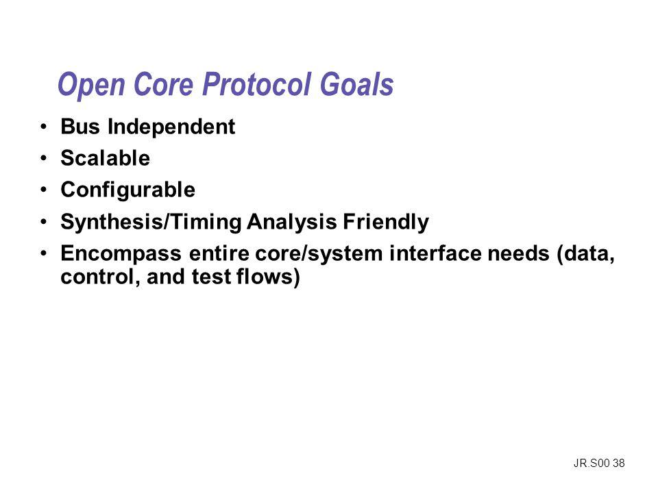 Open Core Protocol Goals
