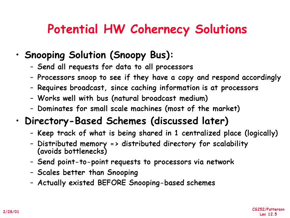 Potential HW Cohernecy Solutions