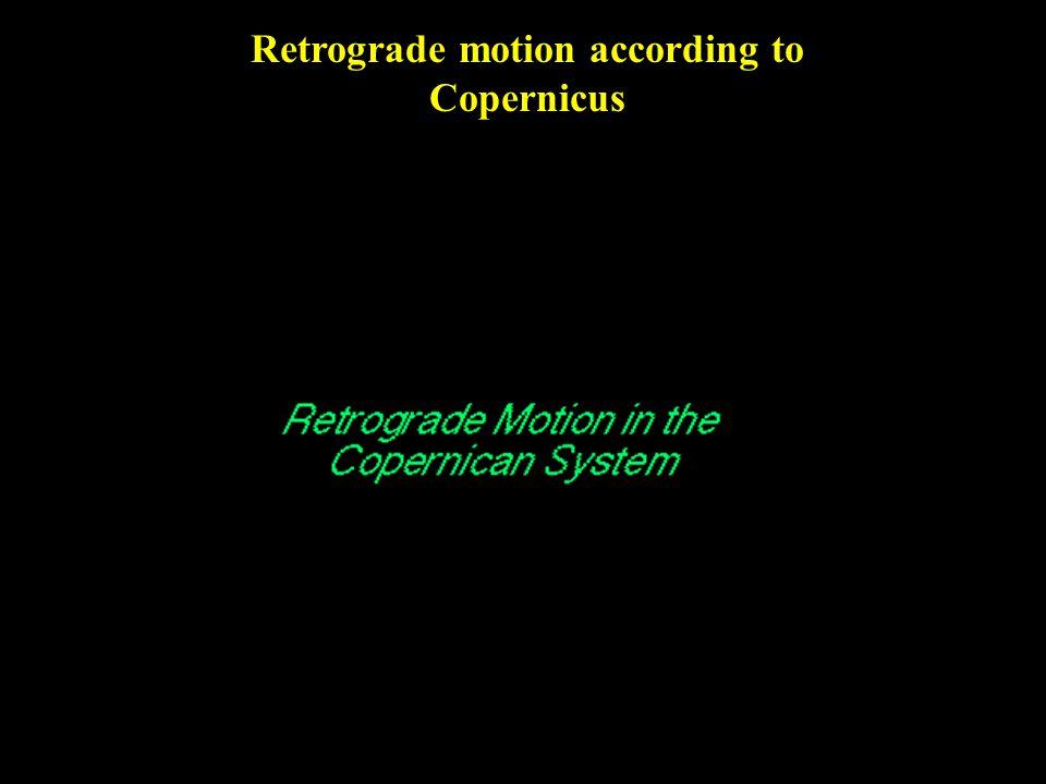 Retrograde motion according to Copernicus