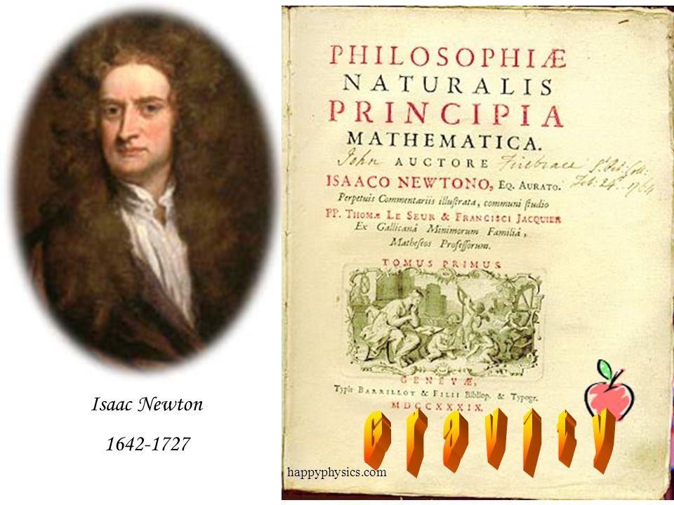 Isaac Newton 1642-1727 G r a v i t y happyphysics.com