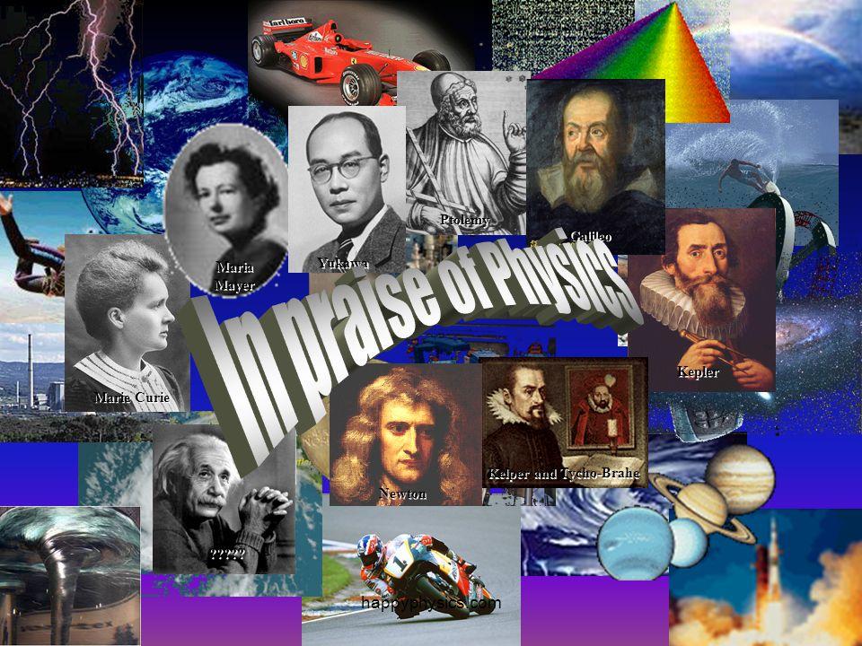 In praise of Physics happyphysics.com Ptolemy Galileo Yukawa