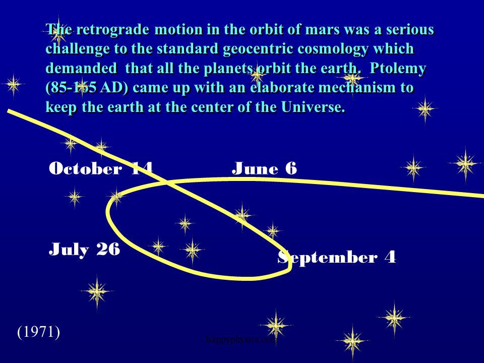 October 14 June 6 July 26 September 4
