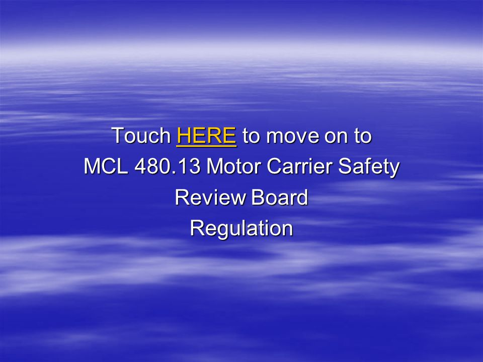 Touch HERE to move on to MCL 480