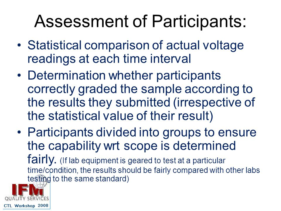 Assessment of Participants: