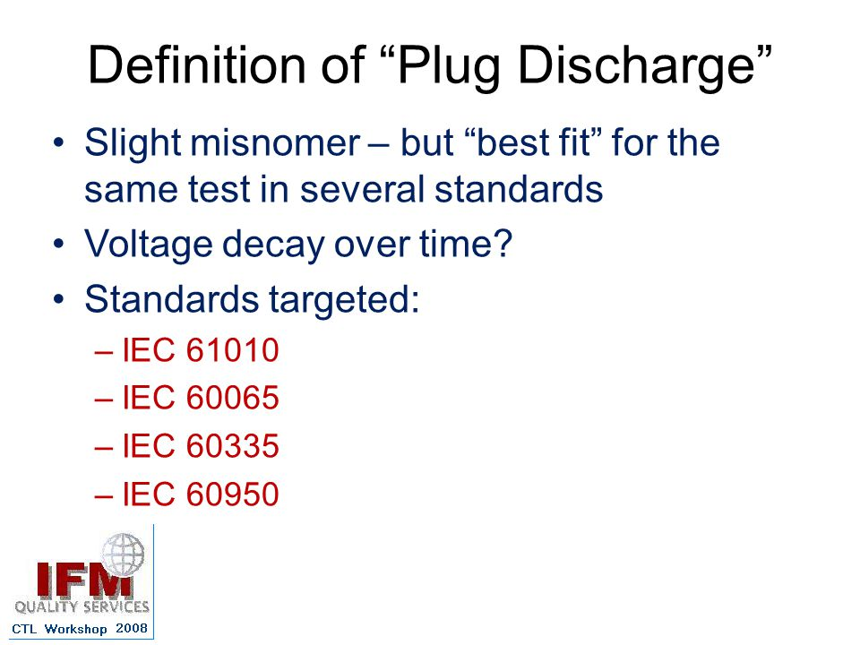 Definition of Plug Discharge