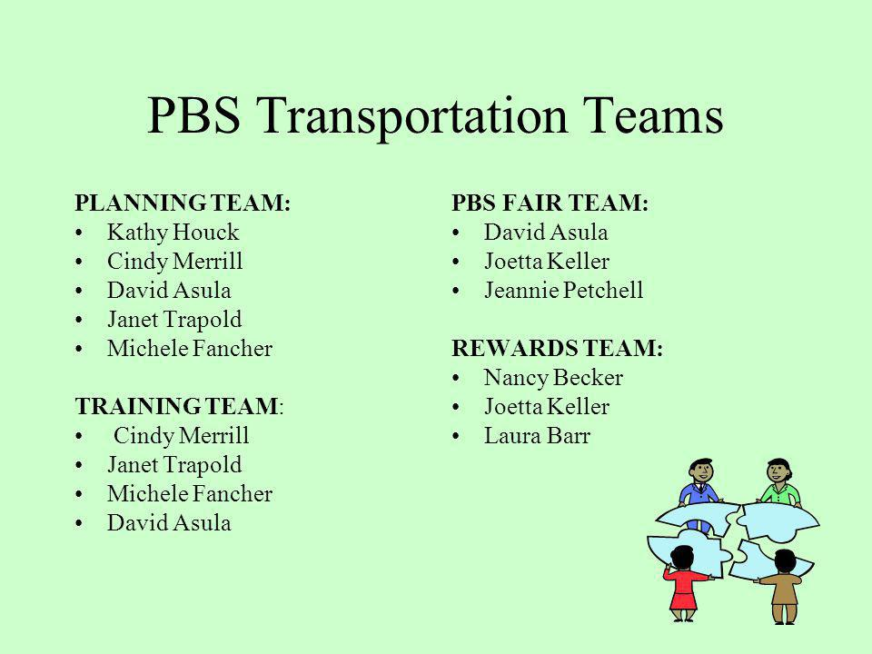 PBS Transportation Teams
