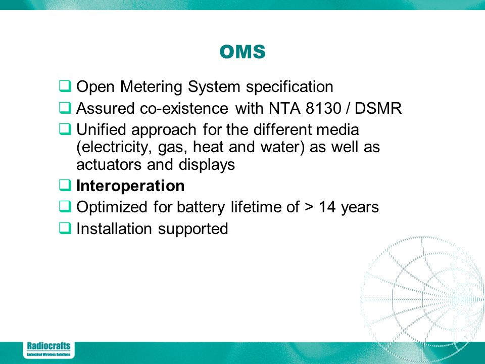 OMS Open Metering System specification