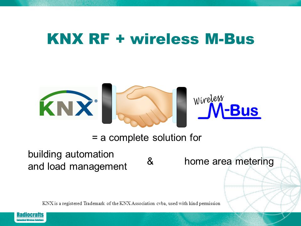 KNX RF + wireless M-Bus = a complete solution for building automation