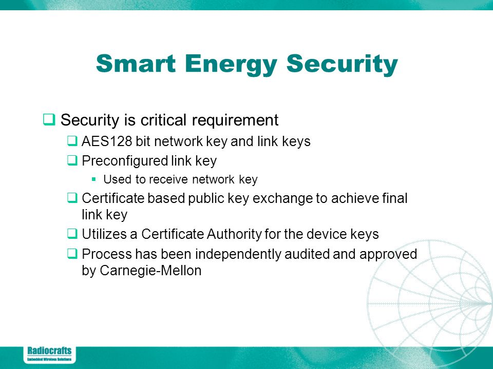 Smart Energy Security Security is critical requirement