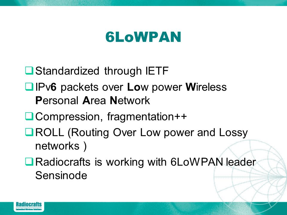 6LoWPAN Standardized through IETF