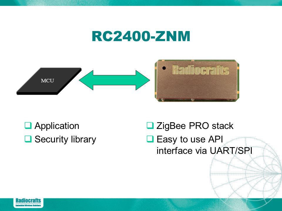 RC2400-ZNM Application Security library ZigBee PRO stack