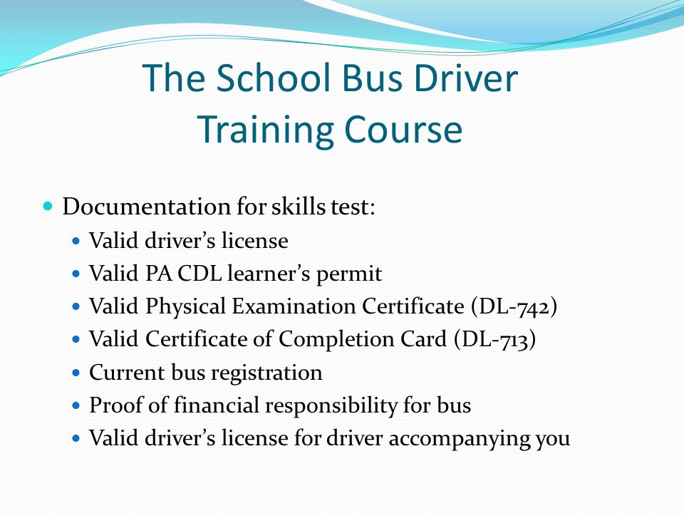 School Bus Driver Training - ppt video online download