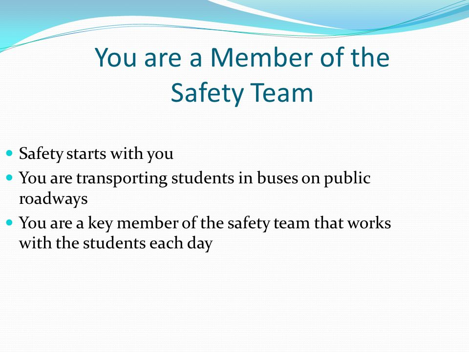 You are a Member of the Safety Team