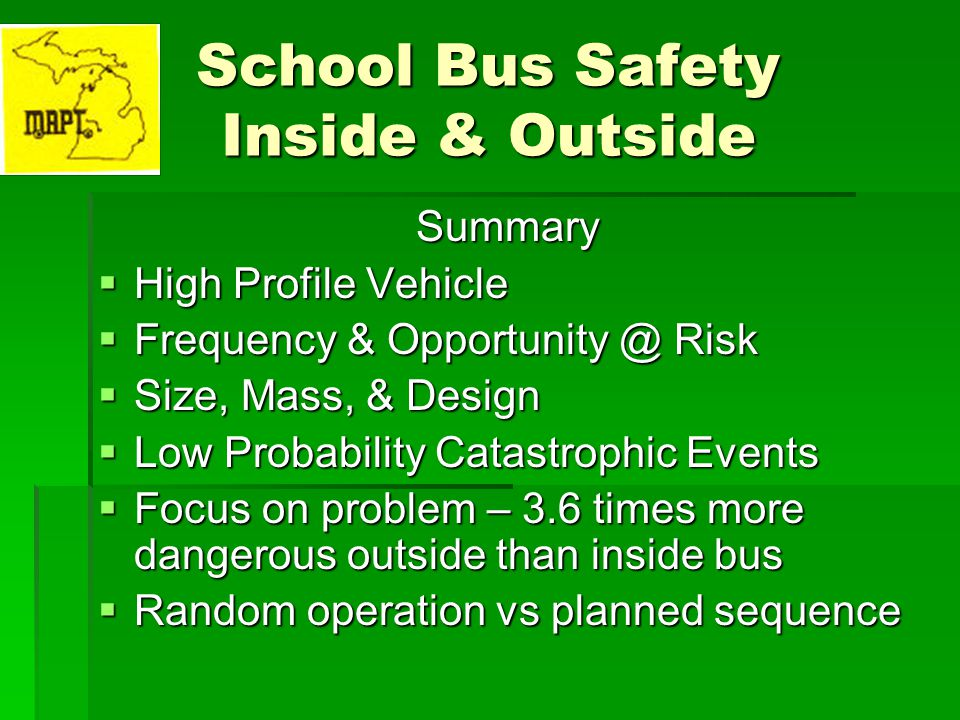 School Bus Safety Inside & Outside