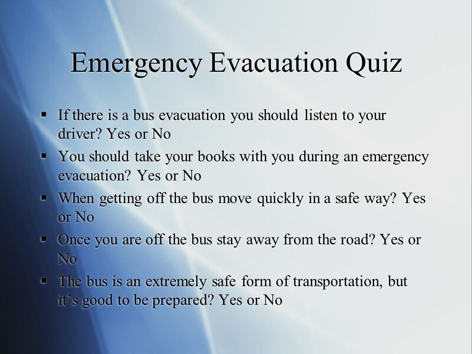 Emergency Evacuation Quiz