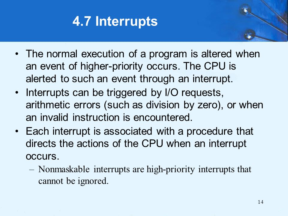 4.7 Interrupts