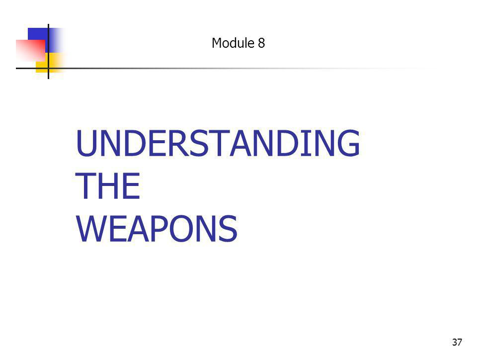 UNDERSTANDING THE WEAPONS