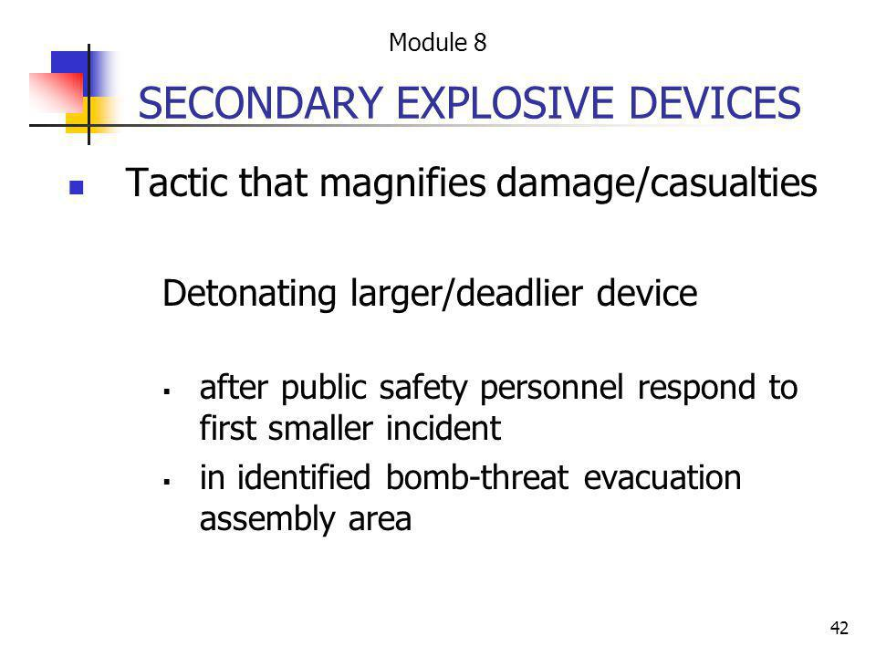 SECONDARY EXPLOSIVE DEVICES