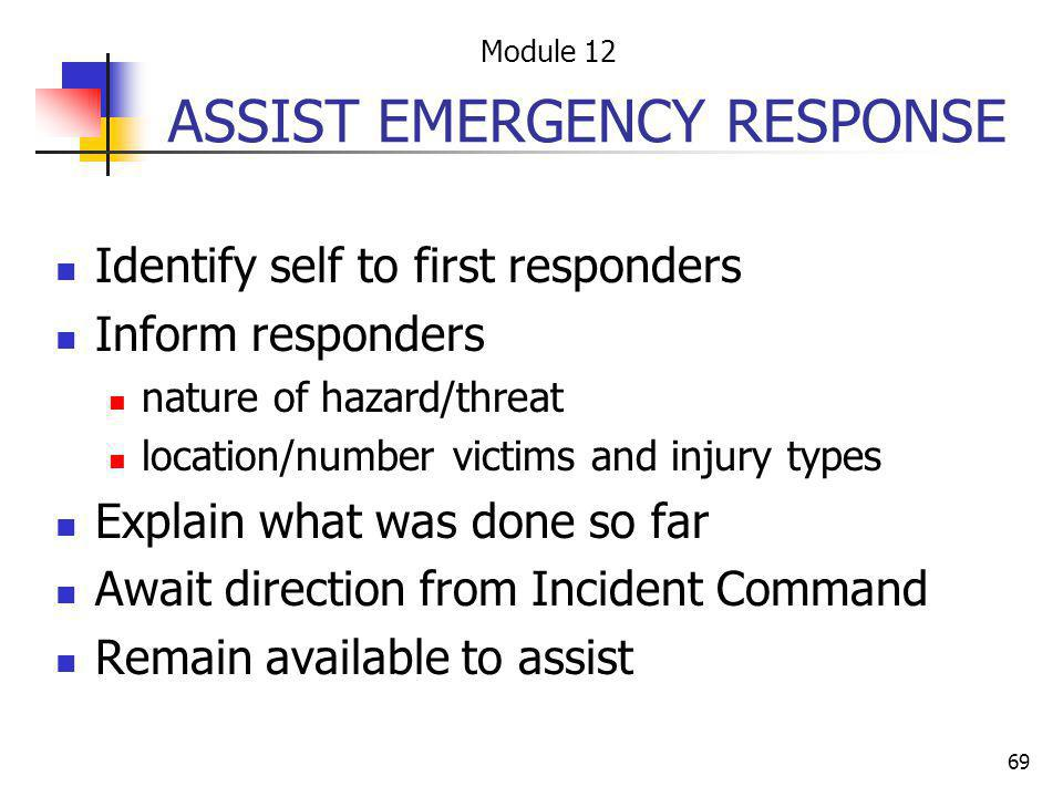 ASSIST EMERGENCY RESPONSE