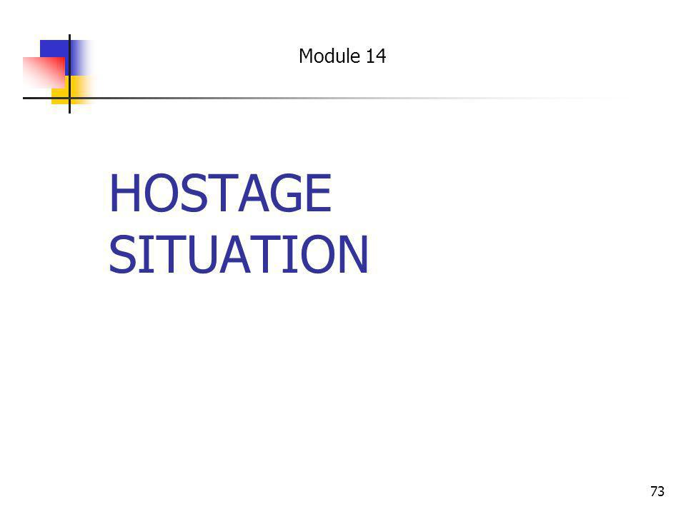Module 14 HOSTAGE SITUATION