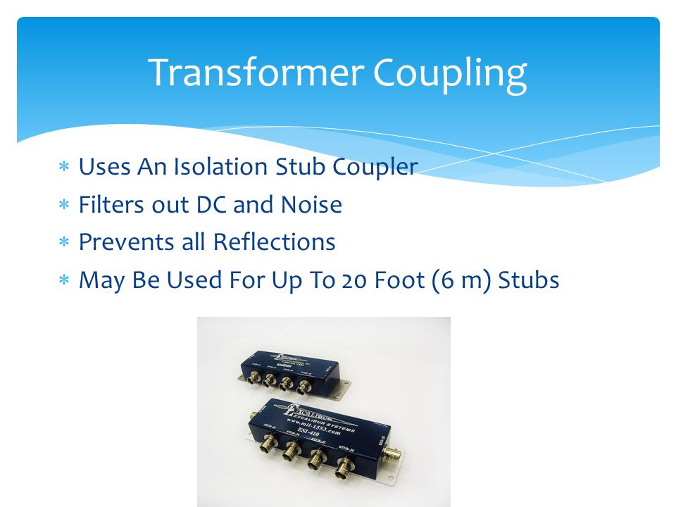 Transformer Coupling Uses An Isolation Stub Coupler