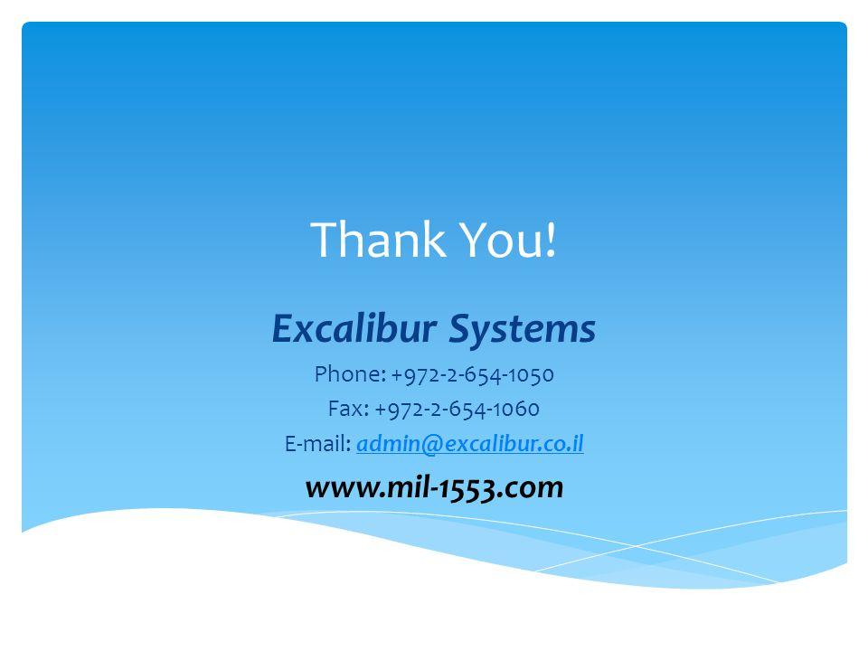 E-mail: admin@excalibur.co.il