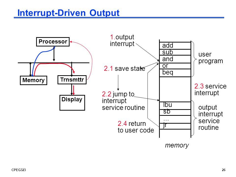 Interrupt-Driven Output